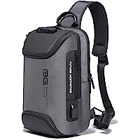 OZUKO Sling Bag Crossbody Bolsos Bandolera Hombre, Bolsa Antirobo de Hombro Bandoleras Cruzada con USB Bolsa de Mochila…