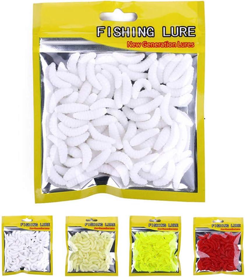 50pcs Bag 2 Centimetri Morbido Pane Bug Bionic Grubs Trota Esche di plastica Polo Mano Esche Artificiali Esche da Pesca Regard