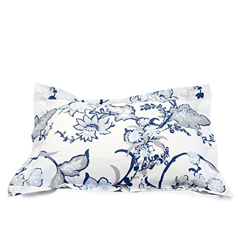 Amazon.com: Vivaterra Chatham Floral Organic Cotton Sham ...