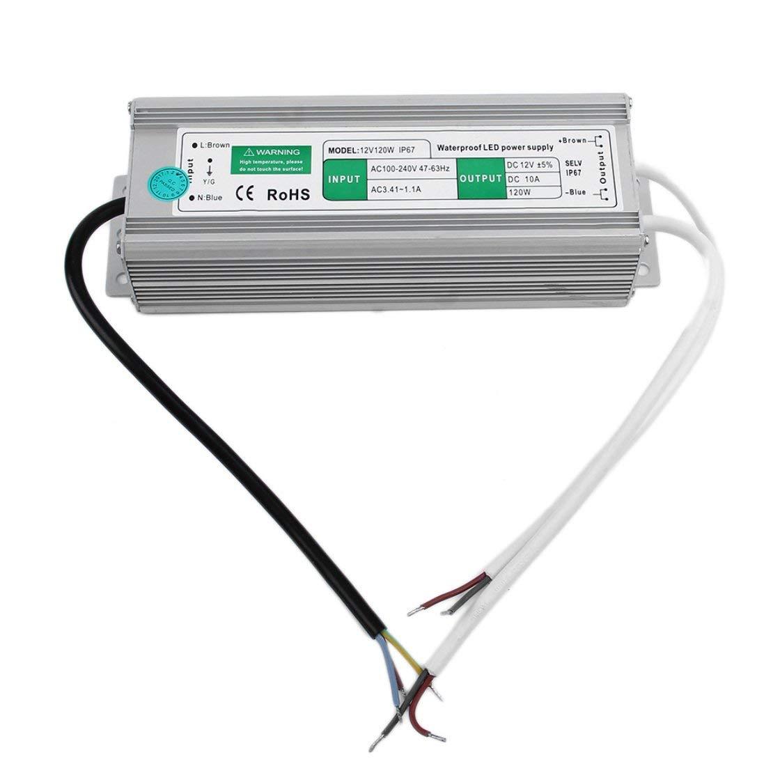 Transformateur d'alimentation à découpage imperméable de 10A 120w 12V pour l'affichage à LED