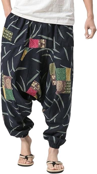 Zhuhaitf Pantalones Bombachos Hombre y Mujer Ropa Hippie ...