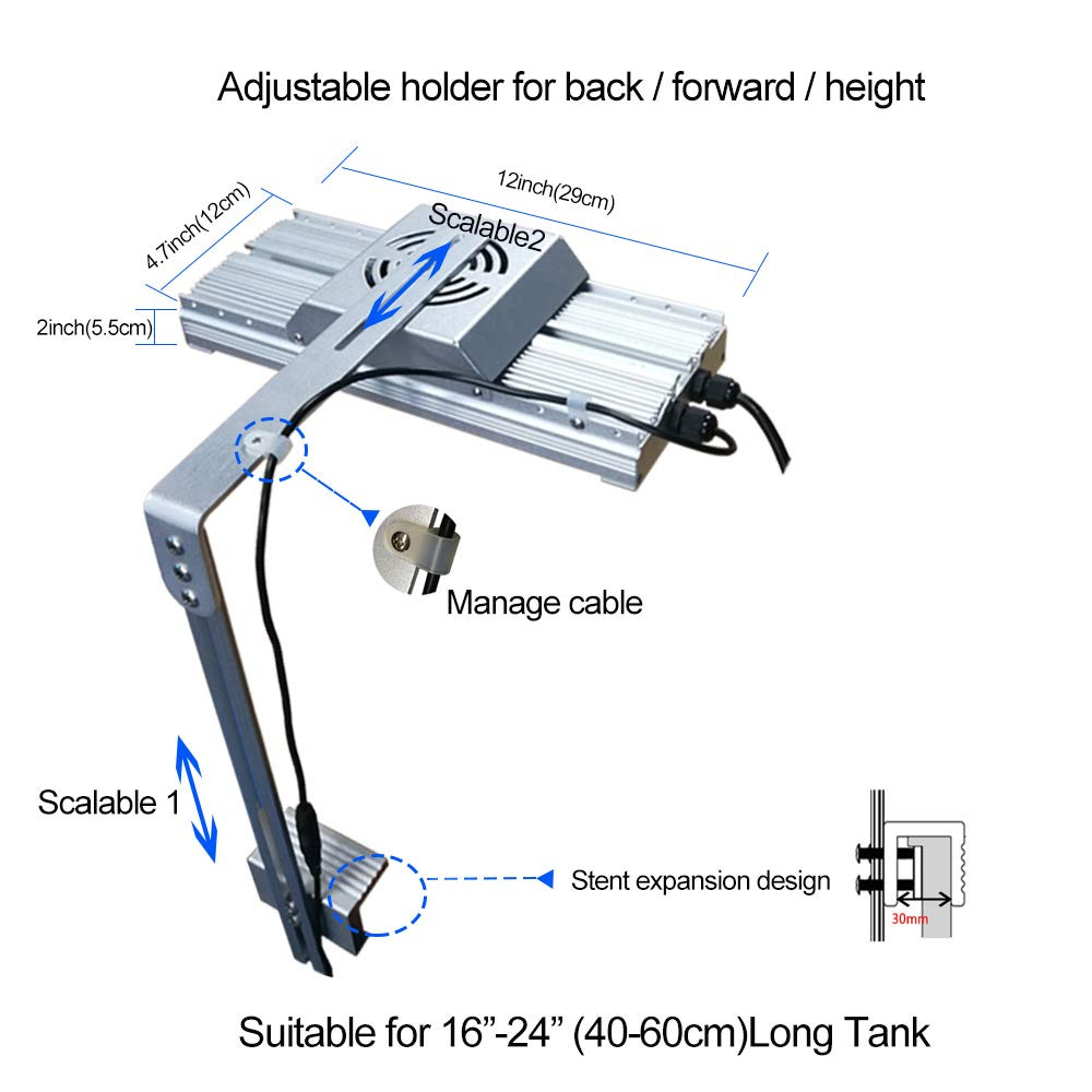 DSunY Accessory for Light -Single Arm LED Mounting Kit Bracket (Silver)