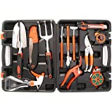 LESHP 12 Piece Garden Tool Set - Hand Tools Set Gardening Gifts for the Gardener - Including Garden Shears Trowel Spade Fork
