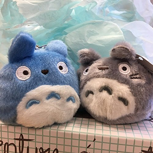 3 Tone Plush Stocking (Pair of Soft and Cute Totoro Plush Key Chain)