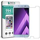 Samsung Galaxy A3 2017 Tempered Glass Screen Guard Protector Ultra Strong (9H)-Slim by Skin4Gadgets with Gift Card of Rs.200.
