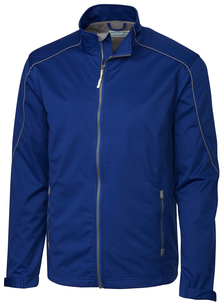 Cutter & Buck Men's Big and Tall Midweight Softshell Opening Day Jacket, Tour Blue, 5XB