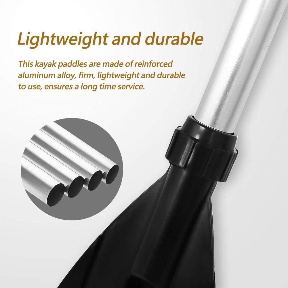 2pcs Detachable Aluminum Alloy Kayak Oars Boat Paddles can be Assembled to 50 Long Paddle Kayak Paddles