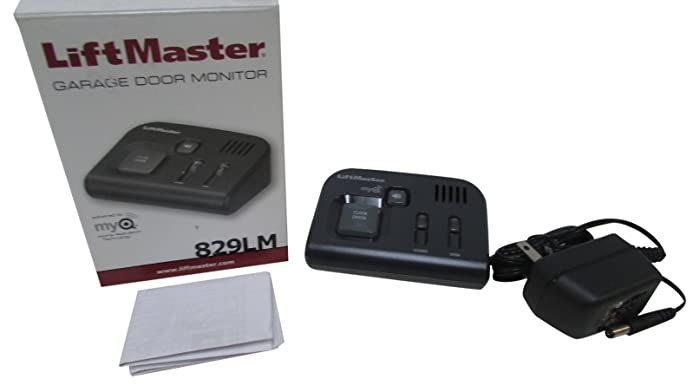 LiftMaster 829LM Garage Door Monitor, Black