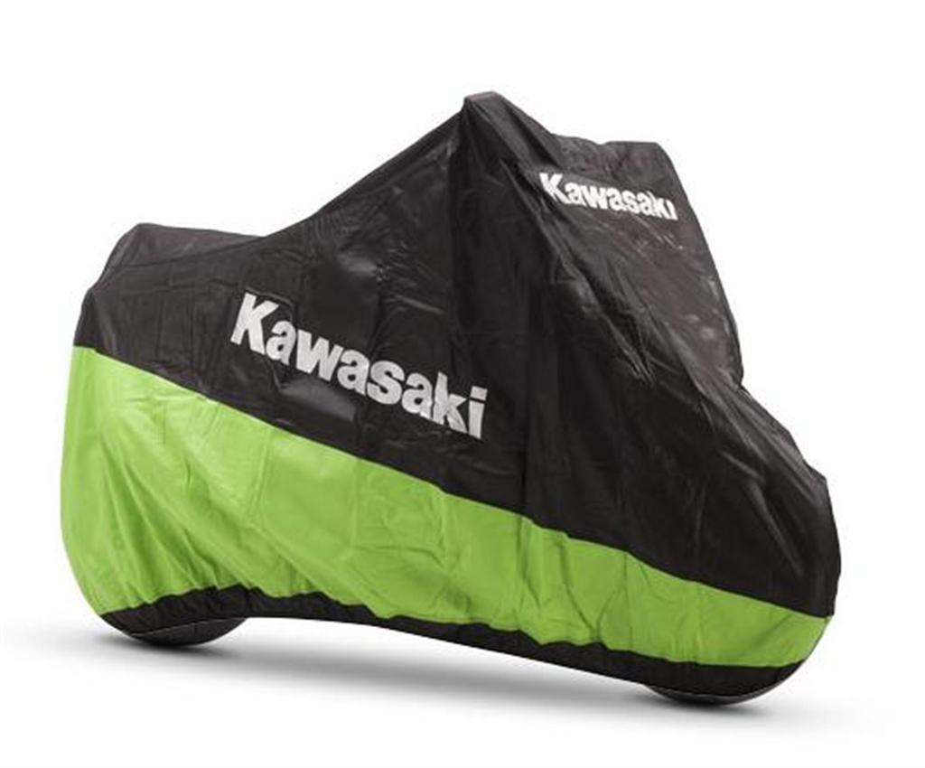 Kawasaki, telone di copertura per moto, per ambienti interni, taglia L.