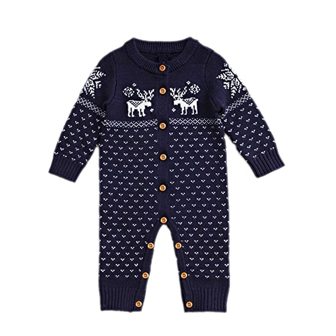 ACVIP - Pelele - para bebé niño azul Para Bebé 0-4 Meses(Talla