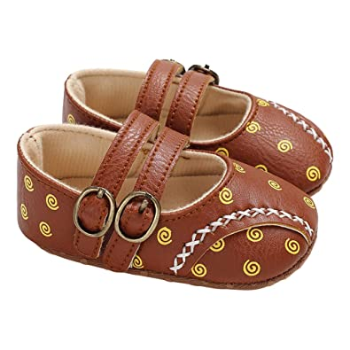 Amazon.com | lakiolins Baby Girls Double Buckle Straps Swirl Mary Janes Princess Dress Shoes Moccasins | Mary Jane