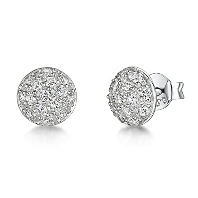 f8c441b8c JOOLS by Jenny Brown - 925 Sterling Silver Stud Earrings - Pave Set With  Black Zirconia