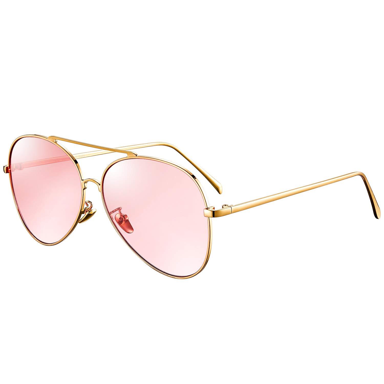rezi メンズ  Gold Frame/Pink Mirror Lens B07H2Z9KH6