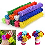 Buytra 1080 Pieces Pipe Cleaners Chenille Stem for Art and Craft Supplies,12 Assorted Colors