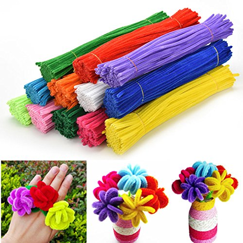 Buytra 1080 Pieces Pipe Cleaners Chenille Stem for Art and Craft Supplies,12 Assorted Colors (Thick Chenille Stem)
