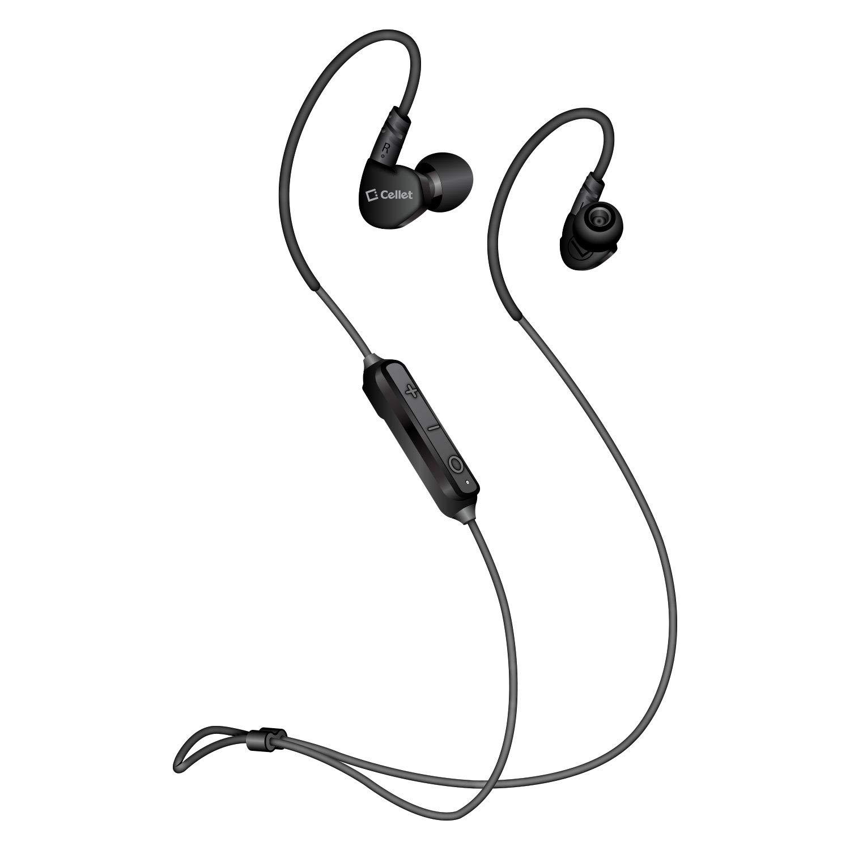 ワイヤレス ステレオ スポーツ イヤホン ブラック HTC U12 Plus対応   B07KQRL5J6