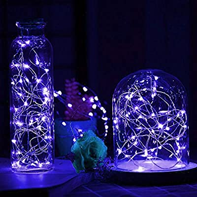 LIIDA [10-PACK] LED String Lights, LED Moon Lights 20 Led Micro Lights On Silver Copper Wire (Batteries Include) For DIY Wedding Centerpiece, Table Decoration, Party