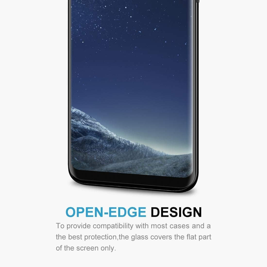 Black LGYD 25 PCS for Galaxy S8 // G950 Case Friendly Screen Curved Tempered Glass Film Screen Protector Film Color : Black Black