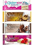 Quest Bar 4 Flavor Super Variety Pack Hottest Flavors 12 Count