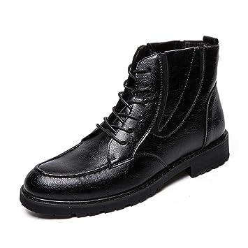 Xiazhi-shoes , Botines de Trabajo de Estilo británico para Hombres (Color : Negro, tamaño : 44 EU): Amazon.es: Hogar