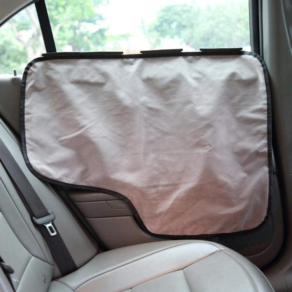 2pcs Pet Car Door Cover Waterproof Car Side Panel Scratch Guard Protector Car Interior Door Cover Universal Vehicle Door Guard Protector Washable Anti Scratch Vehicle Door Protector Black