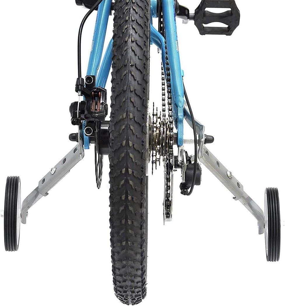 16//18//20//22//24inch Solid Training Wheel Kids Bike Learning Stabiliser Silver