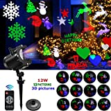 Led Projector Light, 2018 Bright & Anti Fading Version Led Outdoor Indoor Projection Lights Show With 12 Slides Dynamic Lighting Waterproof For Valentine'S Day, Birthday, Party Decor