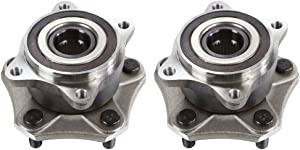 Detroit Axle - New Set (2) Front Driver & Passenger Wheel Hub and Bearing Assembly w/ABS 5-Lug