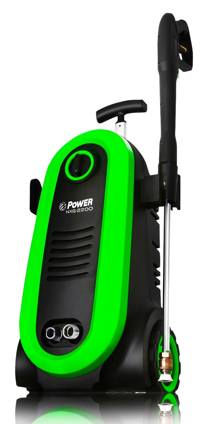 Ultra Low Sound Power Pressure Washer NXG-2200 PSI 1.76 GPM Electric 14.5Amp BRUSHLESS Induction Technology 4X More Lifespan The Next Generation of Pressure Washer Blue