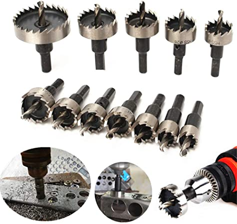 Hole Saw Tooth Kit Steel Drill Bit Wrench Set Cutter Tool For Metal Wood Plate