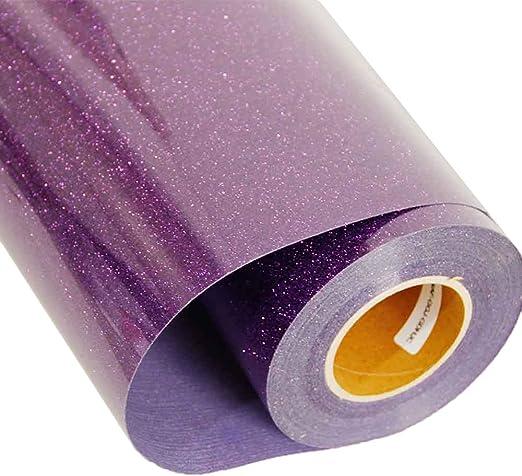 Transfer de vinilo para textiles [HOHO] con purpurina, para ...