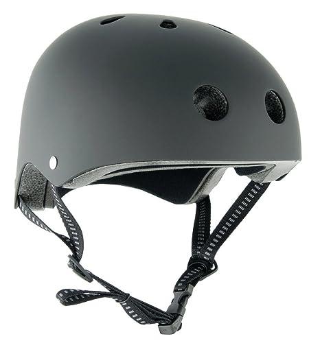 Stealth BMX casco Skate - negro mate: Amazon.es: Zapatos y ...