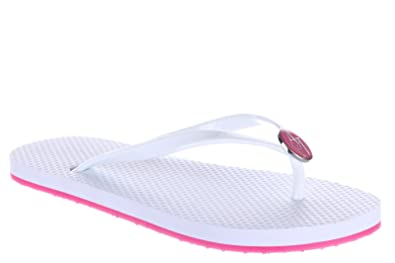 0116ce1c0 Armani Jeans Women s Rubber flip Flops Sandals White UK Size 4 C57F1 32 1C
