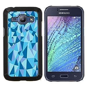 Stuss Case / Funda Carcasa protectora - Estructura Geométrico Pirámide Triángulo Azul - Samsung Galaxy J1 J100