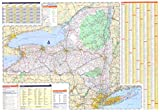 img - for 36x50 New York State Official Executive Laminated Wall Map book / textbook / text book