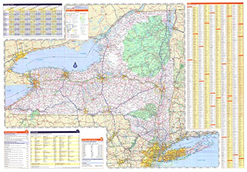 - 36x50 New York State Official Executive Laminated Wall Map