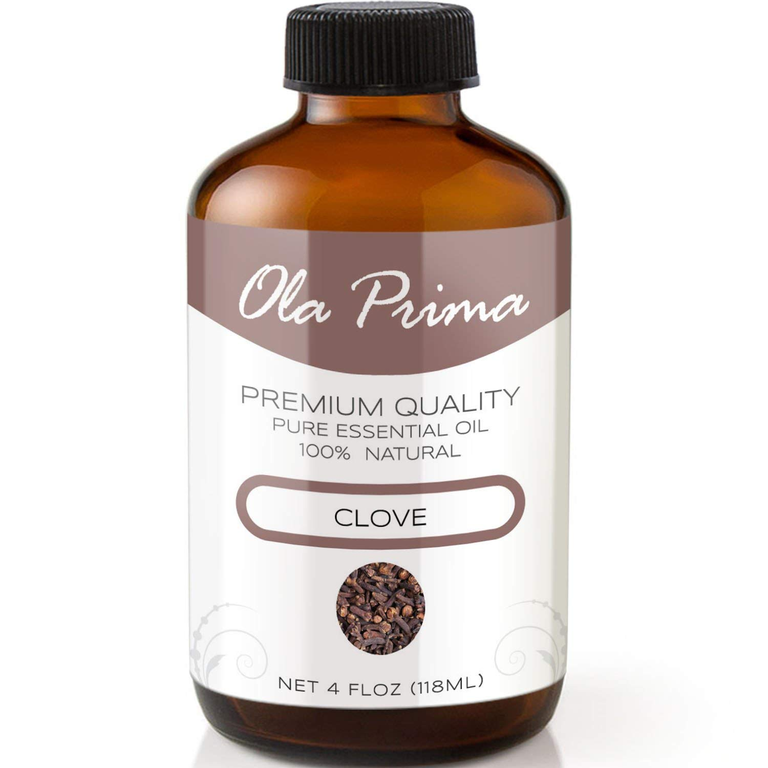 4oz - Premium Quality Peppermint Essential Oil (4 Ounce Bottle with Dropper) Therapeutic Grade Peppermint Oil Ola Prima