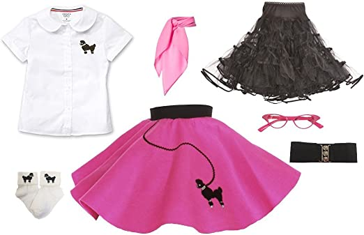 Hip Hop 50s Shop Baby//Toddler Cat Eye Glasses Halloween Poodle Skirt Costume