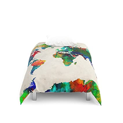 Amazon society6 world map duvet covers twin 68 x 88 society6 world map duvet covers twin 68quot gumiabroncs Image collections