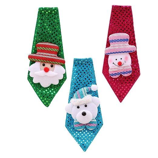 Scdincier - Corbata de Navidad para niños y Adultos, 3 Unidades ...