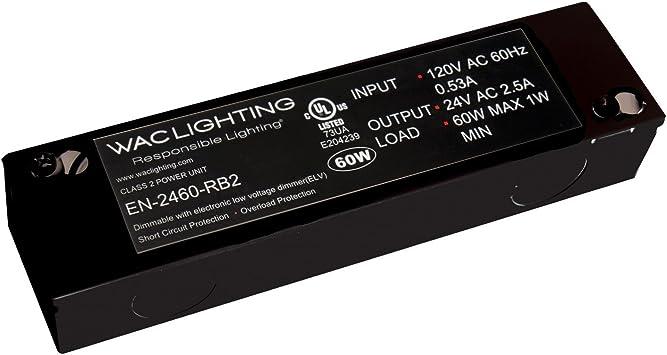 12V 150W Max Enclosed WAC Lighting EN-12150-RB-AR Electronic Transformer 120V
