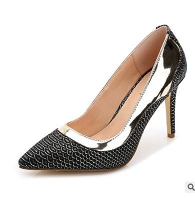 aed563225f21 Gome-z Ladies Shoes Super high Heels Stilettos Plus Size 12-3 Gold Black