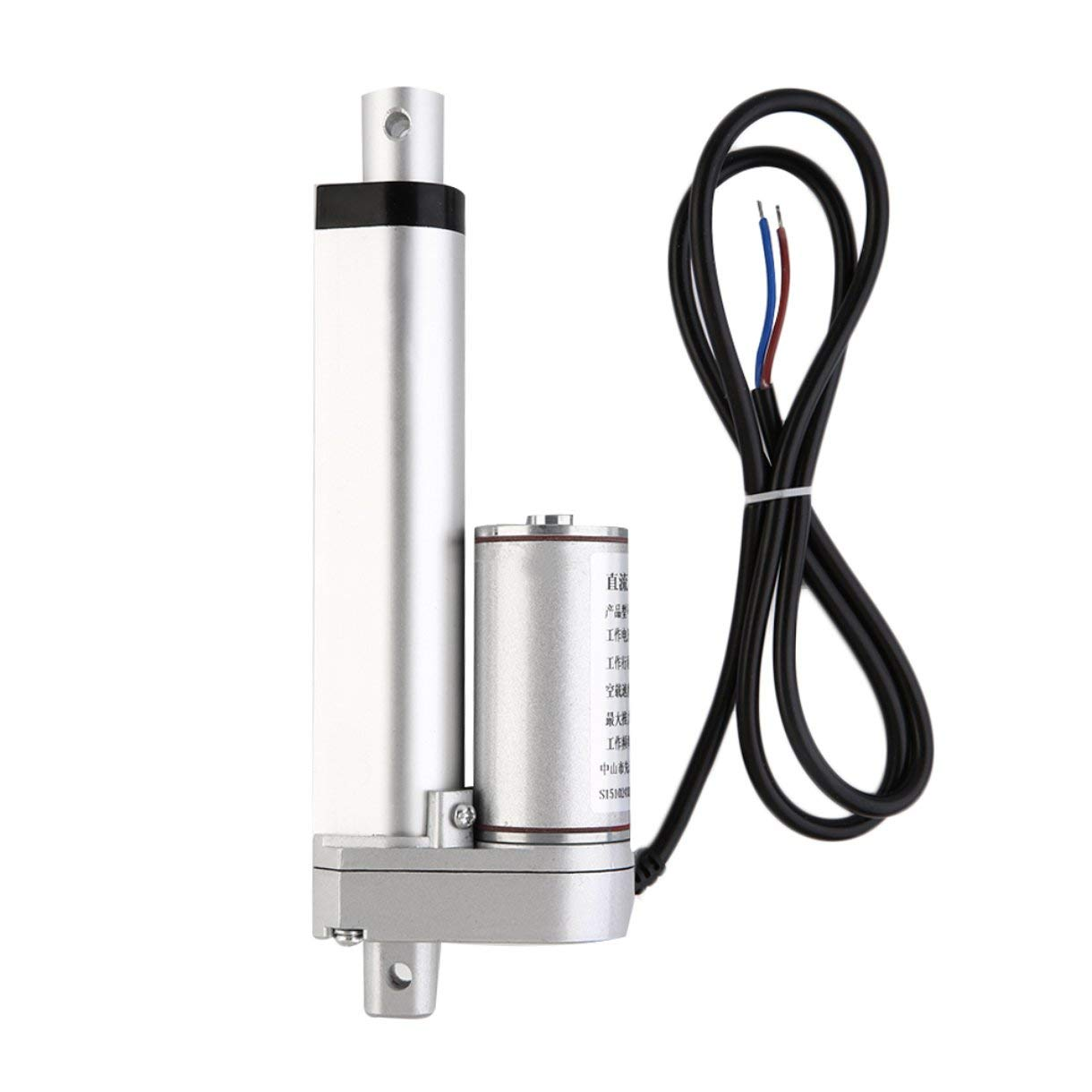 Linear Actuator Motor, Multifunctional 12V DC Linear Actuator Motor 100mm 500N Stroke Heavy Duty Motor Electric Telescopic Rod, for Electroic, Medical, Auto Use