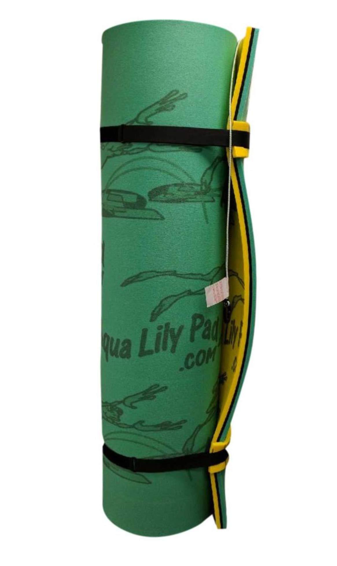 Aqua Lily Pad Bullfrog 15' x 6' (3 ply, 1 3/4'') Floating Foam Pad (for Lakes, Pools, Rivers) (15' x 6') by Aqua Lily (Image #1)