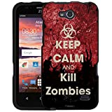ZTE Maven Case, Snap On Cover by Trek KEEP CALM and Kill Zombies on Blood Case