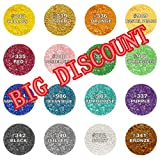 Natural Colour one set 16 colors Edible Glitter Edible Cupcake Cake toppers