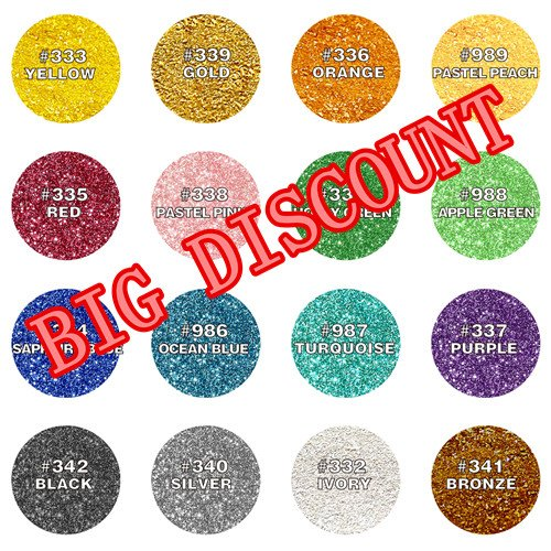 Natural Colour one set 16 colors Edible Glitter Edible Cupcake Cake toppers by Quality Sprinkles