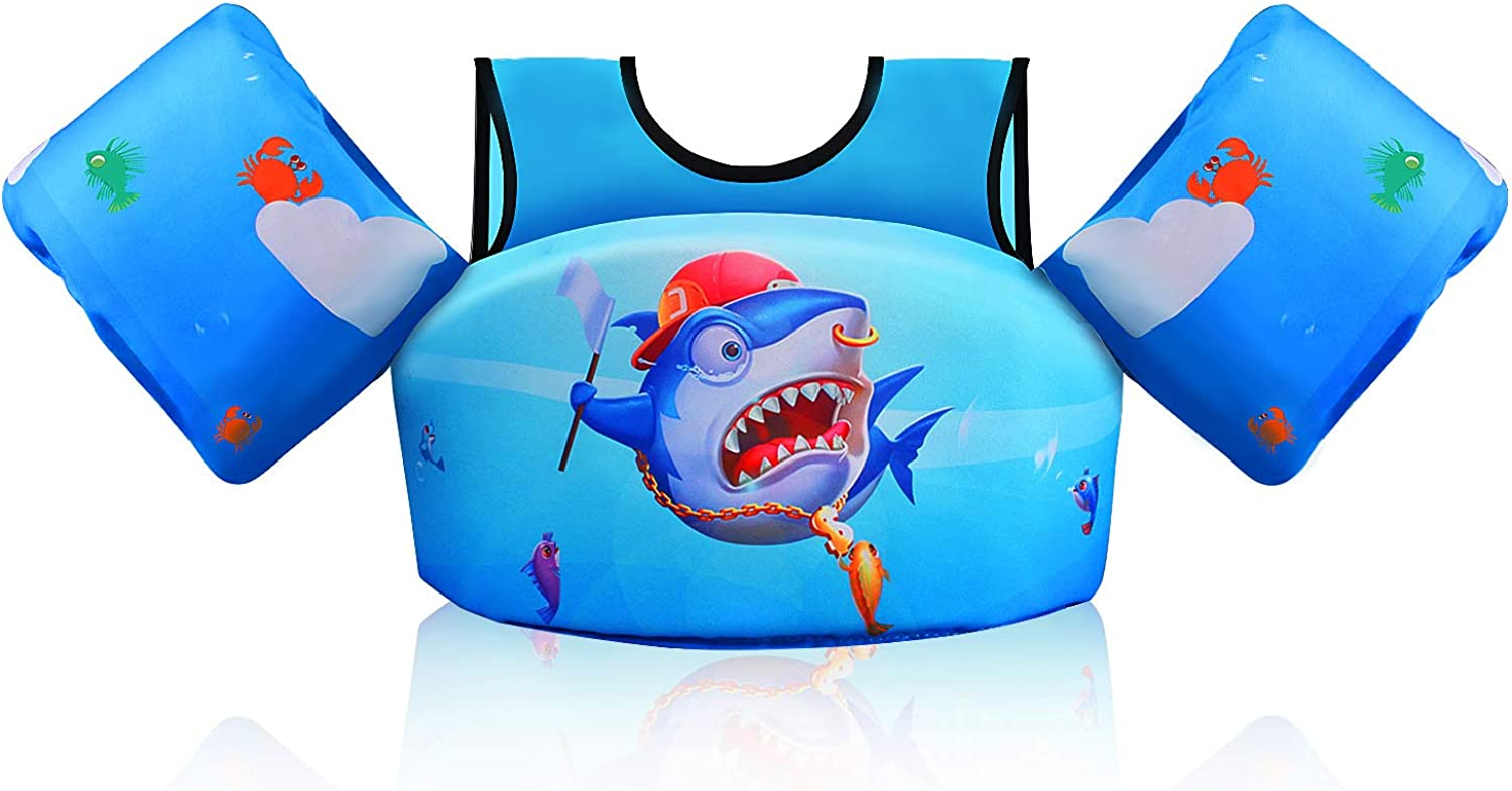 Friendly Fish Childrens Arm Bands Choice of 2 Colours for 18-30Kgs