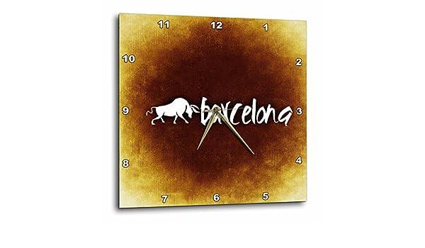 3D Rose Barcelona with Spanish Bullfighting Wall Clock 15 x 15