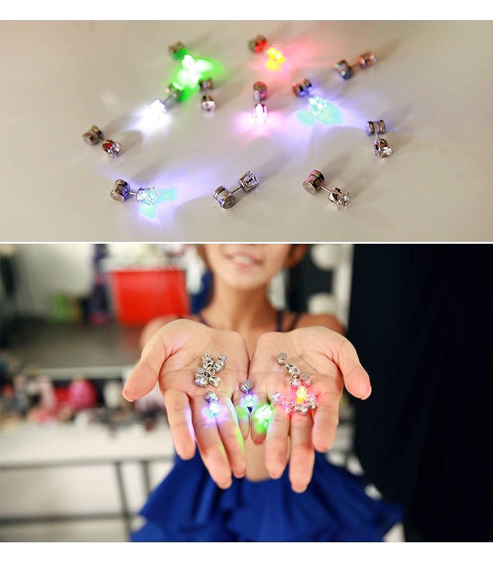 Multi-Color Flashing Night Ice LED Earrings